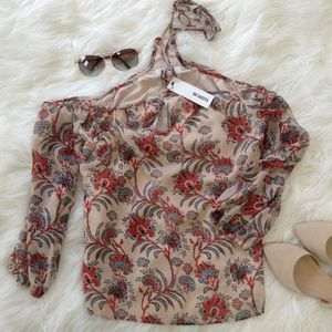 BB Dakota Floral Halter Blouse